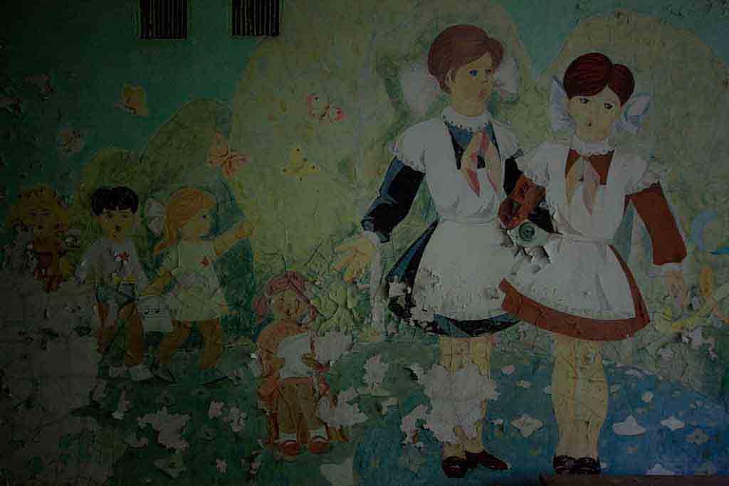 Soviet era wall painting