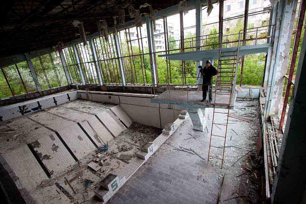 Abandoned pool of Pripyat